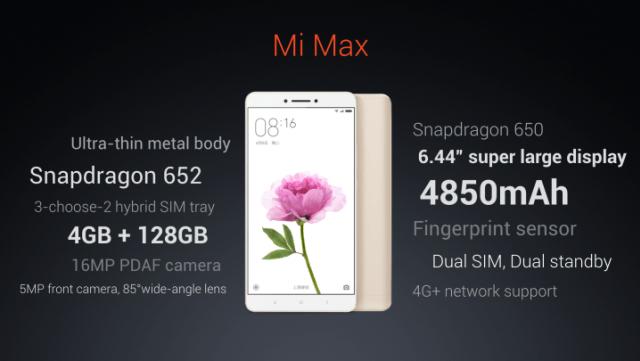 Xiaomi Mi Max - specs