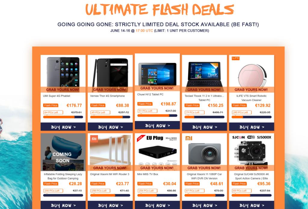 Gearbest Summer Deals - flash deals