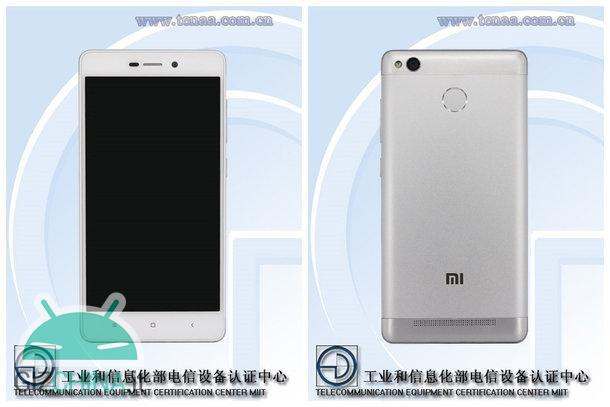 Xiaomi Redmi 3S TENAA