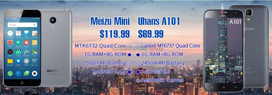 Comparaison Meizu Mini et Uhans A101