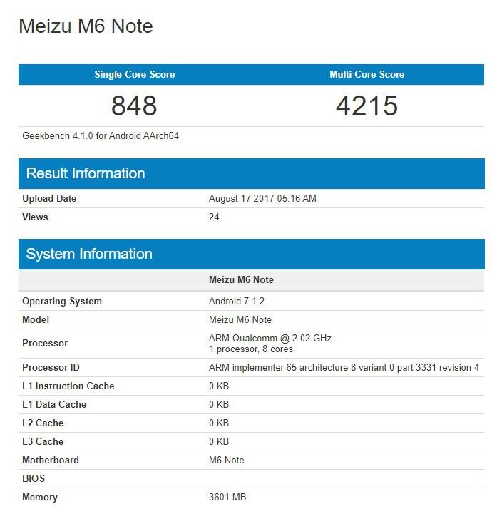 Meizu M6 Note Qualcomm à la une