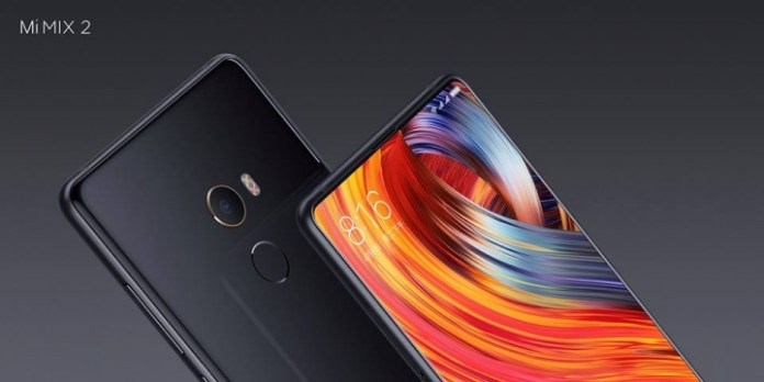 Xiaomi Mi Mix 2 pile et face