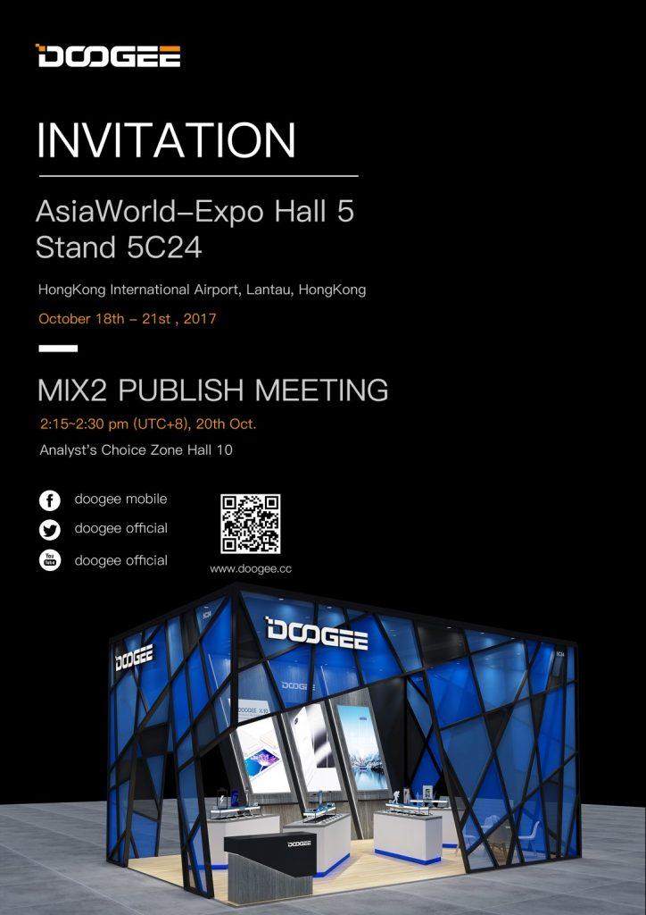 Doogee carte d'invitation