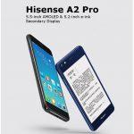 Hisense A2 Pro, un look qui rappelle le Yotaphone 2