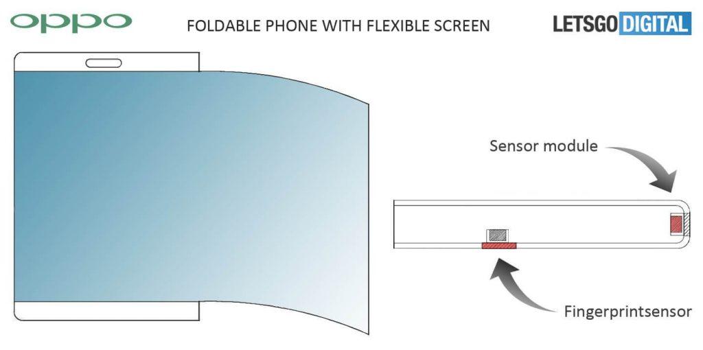 Oppo smartphone display flex