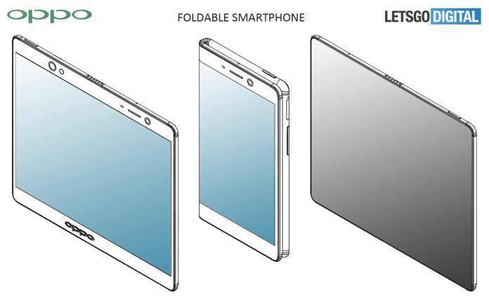 Oppo smartphone pliable