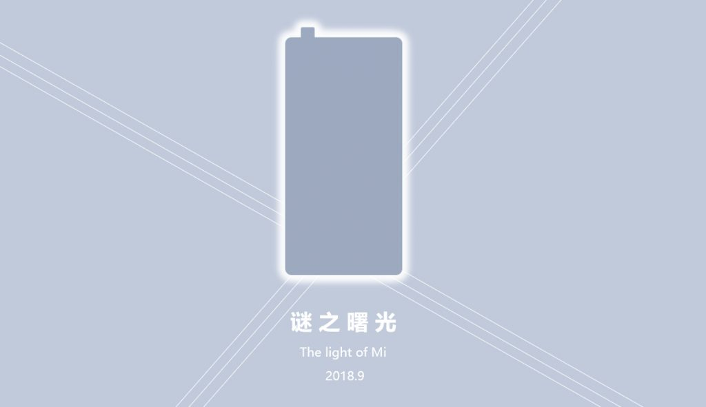 Xiaomi Mi Mix 3 teaser pop up