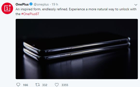 Oneplus 6t officiel
